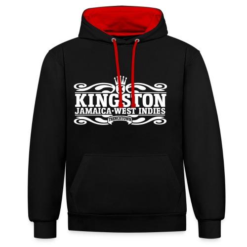Hoodie - Kingston - Kontrastluvtröja