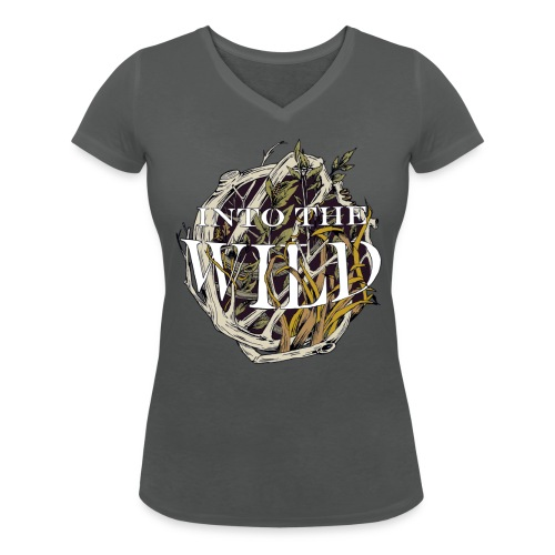 Into the Wild - Vrouwen bio T-shirt met V-hals van Stanley & Stella