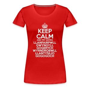 Keep Calm Llanfair (Adult Womens) - Women's Premium T-Shirt