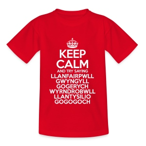 Keep Calm Llanfair T-Shirt (Kids) - Kids' T-Shirt