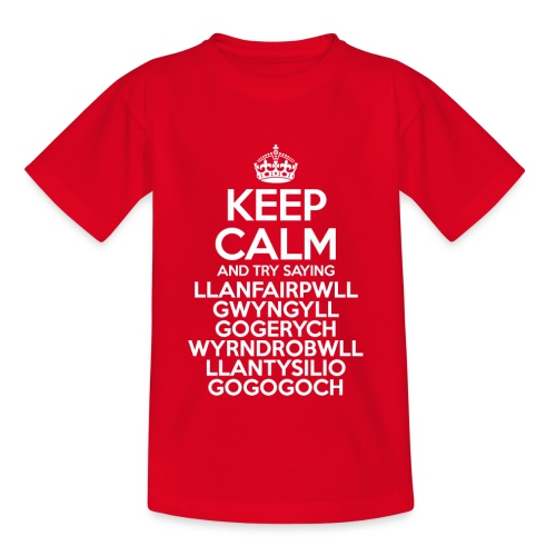Keep Calm Llanfair T-Shirt (Kids) - Kids' T-Shirt