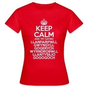 Keep Calm Llanfair T-Shirt (Adult Womens) - Women's T-Shirt