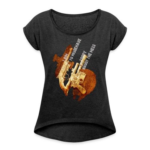 Space Cowboys - Frauen T-Shirt mit gerollten Ärmeln