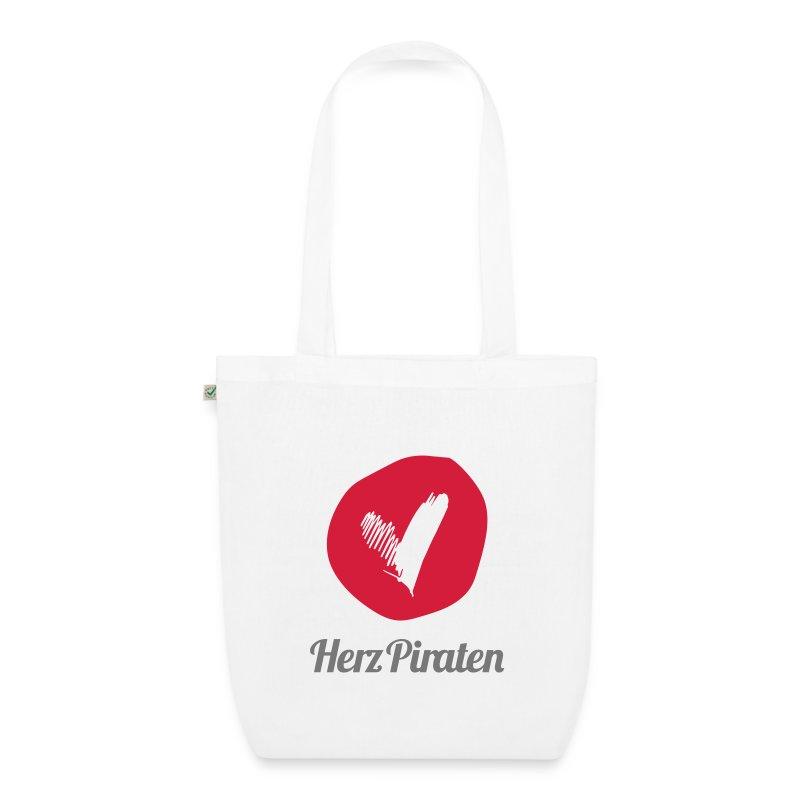 HerzPiraten Bio-Shopping Bag   - ..Lass mich dein Pirat sein - Bio-Stoffbeutel