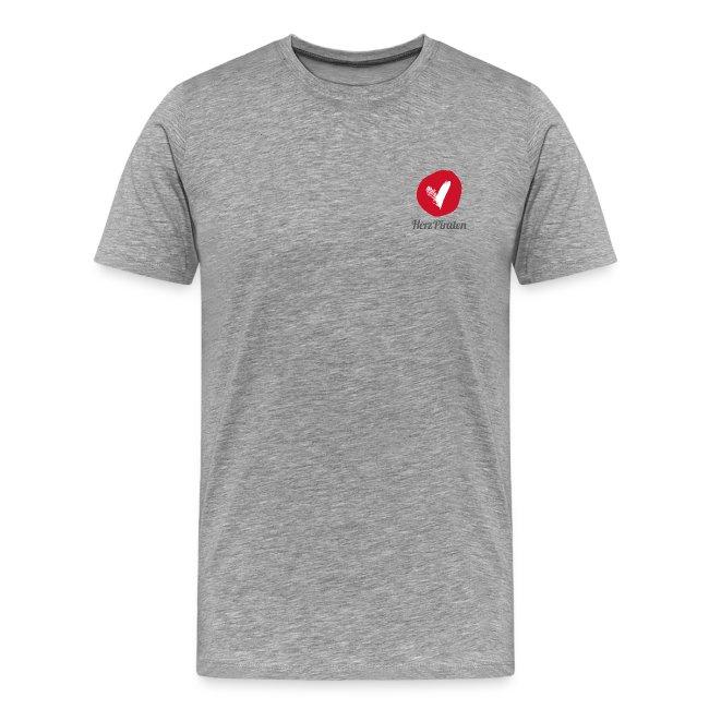 HerzPiraten Herren-Premium Shirt - Großer Pirat mit Herz