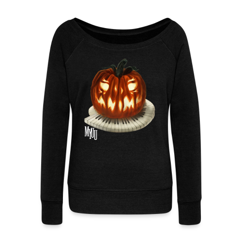 Pumpkin Sweater ♀ - Women's Boat Neck Long Sleeve Top