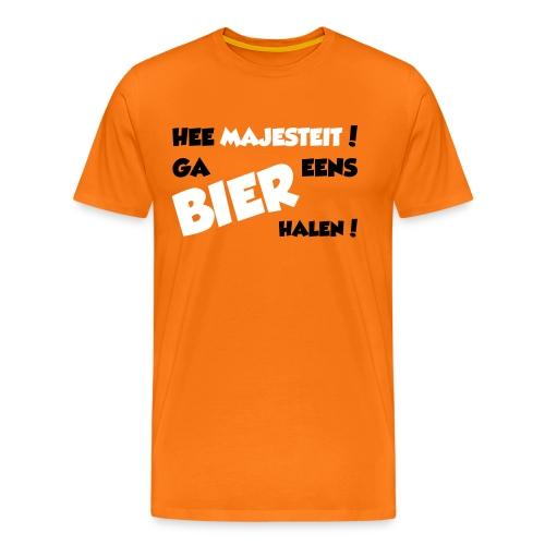 T-shirt voor bierdrinkers op Koningsdag!  - Mannen Premium T-shirt