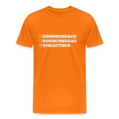Koningsdag, ook voor mensen met Dyslexie!!  - Mannen Premium T-shirt