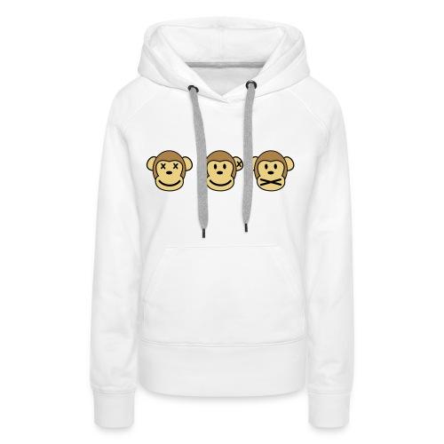 ''ZIEN HOREN ZWIJGEN'' Vrouwen Sweater - Vrouwen Premium hoodie