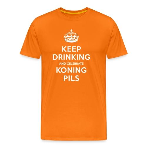 Konings Pils t-shirt: Keep drinking!  - Mannen Premium T-shirt