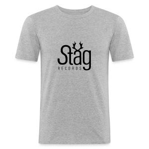 STG-LOGO black slimfit - Men's Slim Fit T-Shirt