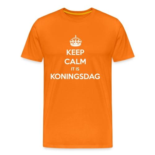 Keep calm, it is Koningsdag T-shirt - Mannen Premium T-shirt