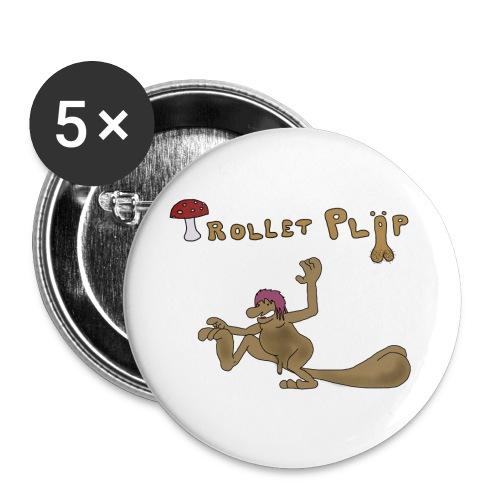 Trollet Pläp - Mellanstora knappar 32 mm (5-pack)