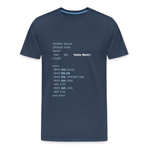 Hello Assembler - Männer Premium T-Shirt