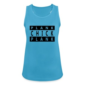 Workout Top - Plank Chick - Frauen Tank Top atmungsaktiv