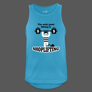 The only good lifting is shoplifting - Männer Tank Top atmungsaktiv