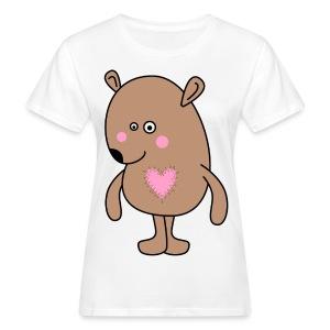 Herz-Mausbär - Frauen Bio-T-Shirt