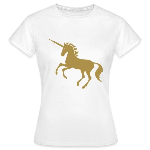 Licorne doré pailleté - T-shirt Femme