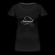 T-Shirts ~ Women's Premium T-Shirt ~ Women's Tee - White Logo - Moist