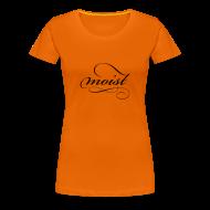 T-Shirts ~ Women's Premium T-Shirt ~ Women's Tee - Black Logo - Moist
