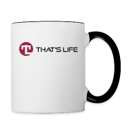 Mugs & Drinkware ~ Contrasting Mug ~ Coffe cup / Two Coloured - Black Logo - That's Life