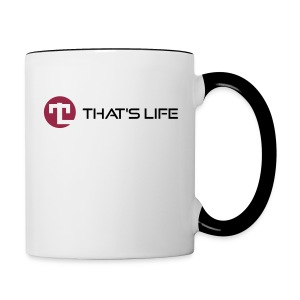 Coffe cup / Two Coloured - Black Logo - That's Life - Contrasting Mug