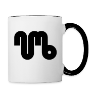 Mugs & Drinkware ~ Contrasting Mug ~ Coffe cup / Two Coloured - Black Logo - Numb