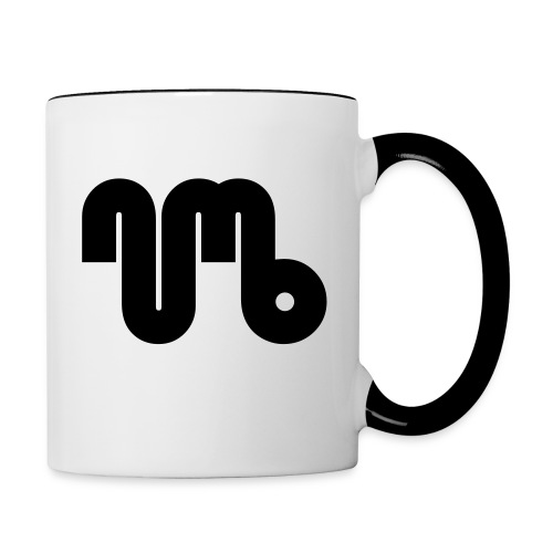 Coffe cup / Two Coloured - Black Logo - Numb - Contrasting Mug