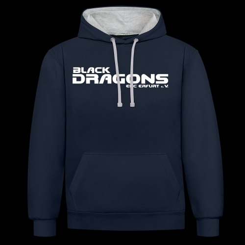 Black Dragons Schriftzug schwarz - Kontrast-Hoodie