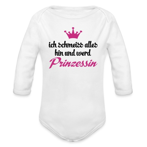 Babystrampler Prinzessin // rot - Baby Bio-Langarm-Body