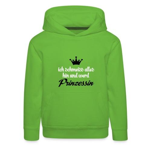 Kapuzenpulli Prinzessin // grün - Kinder Premium Hoodie