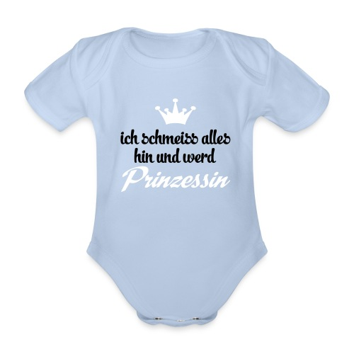 Babystrampler Prinzessin // rot - Baby Bio-Kurzarm-Body