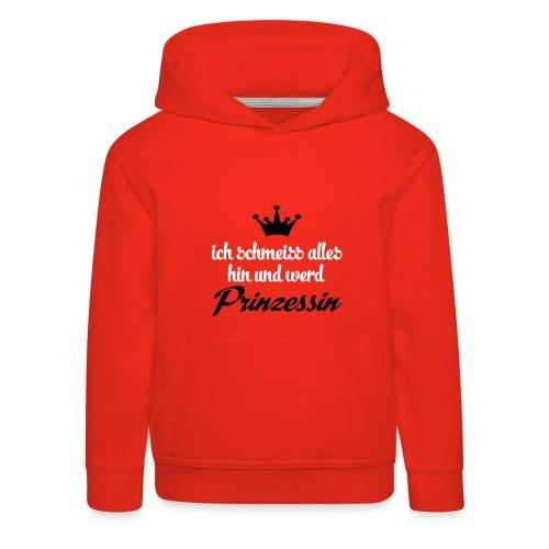 Kapuzenpulli Prinzessin // rot - Kinder Premium Hoodie