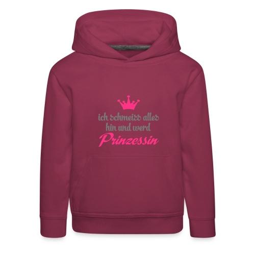 Kapuzenpulli Prinzessin // weiß - Kinder Premium Hoodie