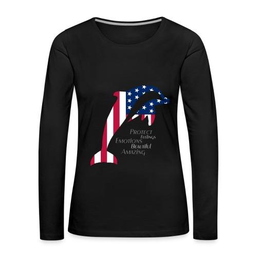 Langarmshirt im Dolphin US Style - Frauen Premium Langarmshirt