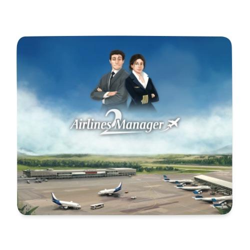 Tapis de souris AM 2 - Aéroport + Perso - Tapis de souris (format paysage)