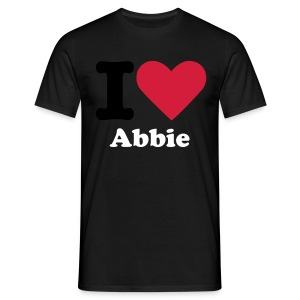 I Love Abbie Male T-Shirt - Men's T-Shirt