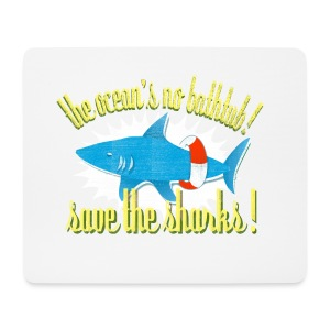 save the sharks - mousepad - Mouse Pad (horizontal)