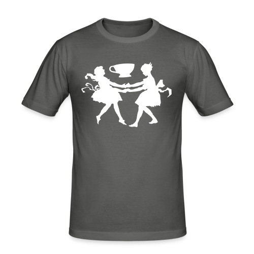 2 girls 1 cup white  - Men's Slim Fit T-Shirt