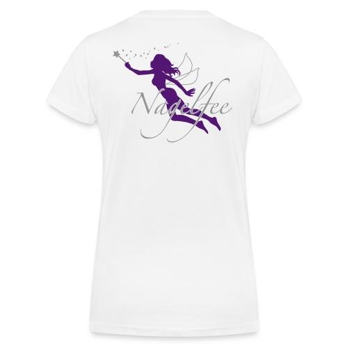 V-Shirt Nagelfee lila - Frauen Bio-T-Shirt mit V-Ausschnitt von Stanley & Stella
