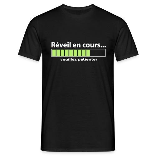 Réveil en cours humour geek - T-shirt Homme