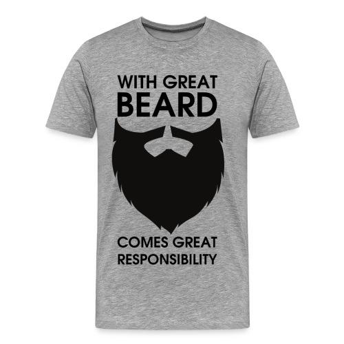 With great beard - Männer Premium T-Shirt