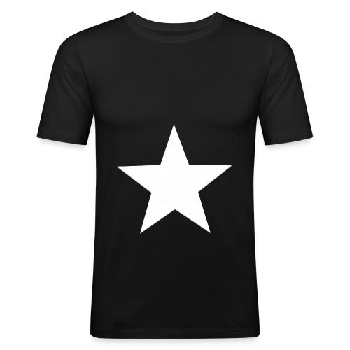 Black and white - Männer Slim Fit T-Shirt