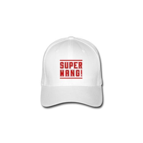 SUPER WANG! Cap weiß, Logo SUPER WANG! groß, rot - Flexfit Baseballkappe