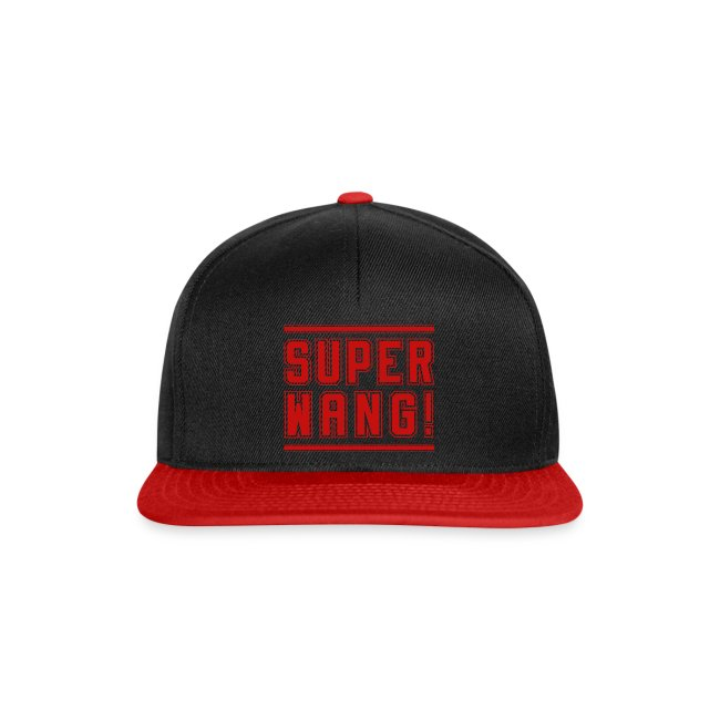 "SUPER WANG!, Cap schwarz, Logo ""SUPER WANG!"", rot"