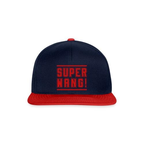 SUPER WANG!, Cap blau, Logo SUPER WANG! rot - Snapback Cap