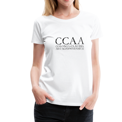CCAA Colonia Claudia Ara Agrippinensium (Vintage Schwarz) S-3XL T-Shirt - Frauen Premium T-Shirt