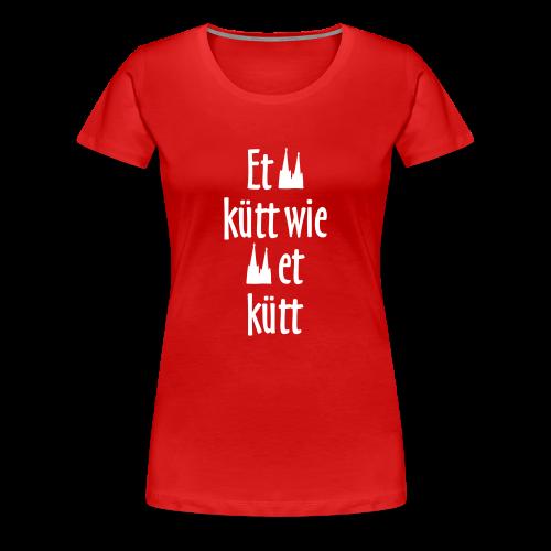 Et kütt wie et kütt O.Z. (Weiß) S-3XL Köln T-Shirt - Frauen Premium T-Shirt