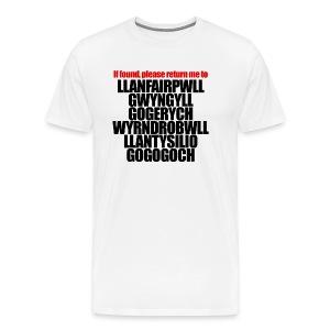 Return to Llanfair T-Shirt (Adult Mens) - Men's Premium T-Shirt