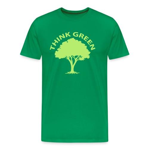 Think green, l'arbre vert - T-shirt Premium Homme
